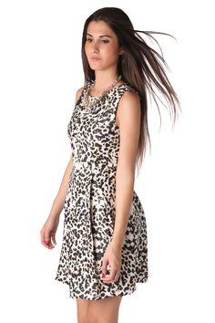 Skater dress in leopard print - 49,90 € - https://q2shop.com/