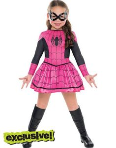 Girls Spider-Girl Costume - Party City - what Peyton wants to be this year for Halloween! Spider Girl Halloween Costume, Girl Spiderman Costume, Girl Superhero Costumes, Spiderman Girl, Toddler Costumes, Super Hero Costumes, Halloween Costumes For Girls, Girl Costumes, Girl Superhero Party