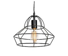 Lámpara de techo de metal Frame, negro - Ø30