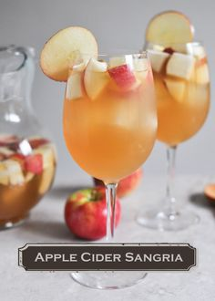 Start a fall tradition this year with a refreshing Apple Cider Sangria drink recipe! Nix the sangria part--just like the apple cubes in the cider Sangria Drink, Apple Cider Sangria, Cocktail Drinks, Fall Sangria, Thanksgiving Sangria, Fall Drinks, Holiday Drinks, Party Drinks, Fall Cocktails