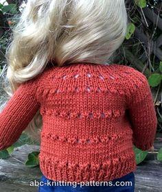 Free Doll Cardigan Knitting Pattern