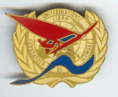 Insigne de Beret ONU -FUNBOARDER DE COMBAT -UNITED NATIONS LIBAN