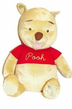 "Disney Winnie the Pooh Plush Large 24"" 80th Anniversary Edition Oversized"
