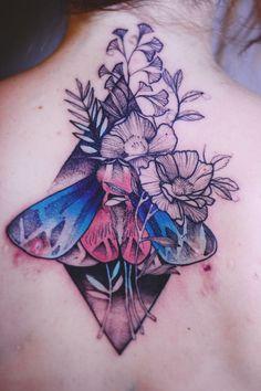 Joanna Swirska Dzo Lama moth tattoo