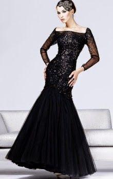 Balik Etek Siyah Abiye Modelleri The Dress Aksamustu Giysileri Aksam Elbiseleri