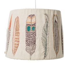 Coral and Tusk - plumes lampshade