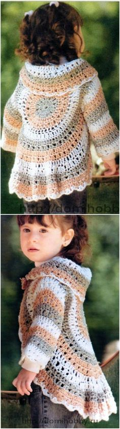 We have put together a collection of Crochet Circular Jacket Pattern Free Ideas that you are going to love. Crochet Circle Vest, Crochet Jacket Pattern, Crochet Circles, Crochet Coat, Crochet Clothes, Crochet For Kids, Crochet Baby, Free Crochet, Crochet Ripple