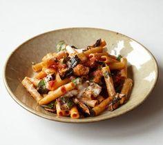 Ziti with Roasted Eggplant and Ricotta Cheese #sicilian-recipes #sicilia #sicily #italian-food