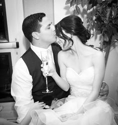 End of the night kiss... I love how the photographer captured these sweet little moments between us