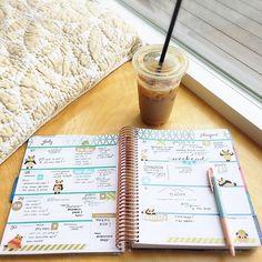 ⛅️ Planning in my favorite window sill spot #emmasplanner