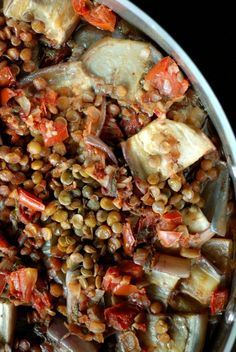 Turkish Eggplant, Tomato and Lentil Stew with Pomegranate