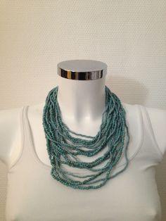 Necklace light blue - 14-1007