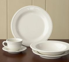 Everyone needs a classic set of white dishes...they go with everything!