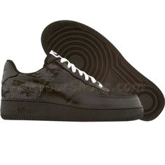 Nike Womens Air Force 1 Low Premium (black / black / white) 315186-003 - $99.99