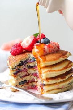 Pancakes may be served for breakfast in most homes, but these are so delicious, I sometimes make them for an after dinner treat. Buttermilk pancakes are fluffy and flavorful to begin with, but when you do the extra step of whipping the egg whites, it transforms the pancakes immediately into magical cloud cakes. They are …