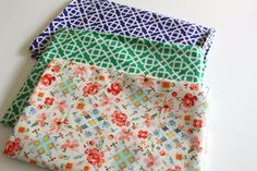 Laminated Cotton Scrap Pack #7 by oilclothaddict on Etsy