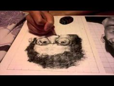 time lapse of grid drawing ▶ Chuck Close drawing - YouTube