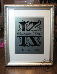 Great gift idea for wedding, anniversary or just because