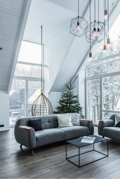 Monochrome interior completes house on stilts in a Lithuanian forest - Haus Dekoration ideen 2018 - Balcony Furniture Design Monochrome Interior, Scandinavian Interior Design, Home Interior Design, Interior Architecture, Scandinavian Living, Classic Interior, Diy Interior, Modern Scandinavian Interior, Scandinavian Architecture