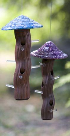 Ceramic Tube Bird Feeders