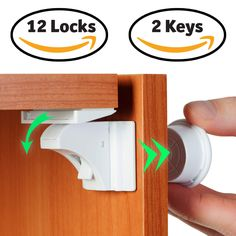 Baby Proof Magnetic Cabinet Door & Drawer Safety Locks - 12 Latches & 2 Keys - No Drilling, Easy to Install - Ideal for Baby Proofing Your Kitchen – Reliable Child Safety Cabinet Locks & by BabyTrust