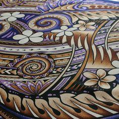 nice detailed fabric Polynesian Designs, Polynesian Art, Polynesian Culture, Hawaiian Print Fabric, Tangle Patterns, Arts Ed, Inspirational Wall Art, Indigenous Art, Moana