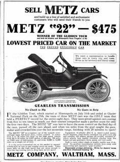 1914 Metz Automobile Advertisement