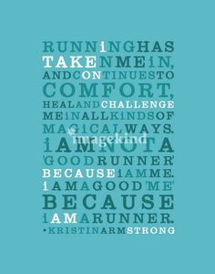 Love this inspirational running quote print.