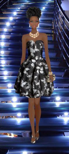 Fashion Game Black Love Art, Black Girl Art, Black Is Beautiful, Diva Fashion, Covet Fashion, Fashion Art, African Drawings, Arte Black, Fashion Dress Up Games