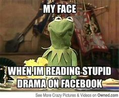 Kermit Reading Facebook Drama