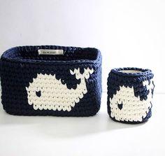 No photo description available. Crochet Needles, Crochet Yarn, Crochet Home, Love Crochet, Diy Crochet Basket, Small Crochet Gifts, Crochet Storage, Finger Knitting, Tapestry Crochet