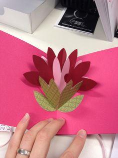 carte pop up fleur