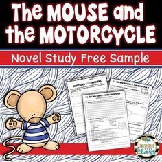 Mouse and the Motorcycle Novel Study Unit FREE Sample **