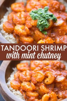 Tandoori Shrimp with Mint Chutney - Mix in a little India with this flavourful Indian recipe. It's easy to make and not too spicy.