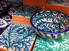 Cerámica de Fajalauza, típica de Granada / Pottery typical from Granada, called Fajalauza, by @piccavey