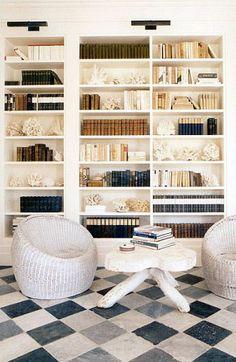 great bookshelf styling