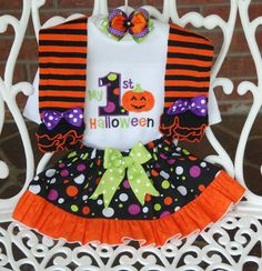 a92bbebc0bd Rare Editions Baby Girls 324 Months Thanksgiving TurkeyAppliqued Jumper  Dress and Striped Bodysuit Set  Dillards