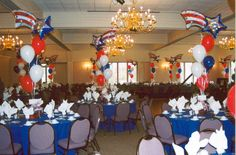 centerpieces eagle scout ceremony   balloon centerpiece   Eagle Scout Ceremony/ Gift Ideas