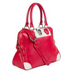 Red and Ivory Ashlyn Tote for Her