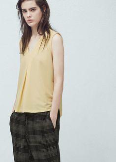 19 Sleeveless Y Blusas Imágenes Mango Mejores De Shirts Blouses Tops UwUTr