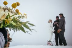 Ski mountain resort wedding