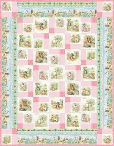 Garden Tales: Pink Fabric by Frederick Warne and Co.