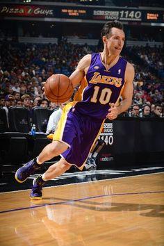 Steve Nash drives to the basket (March 30, 2013   Los Angeles Lakers @ Sacramento Kings   Sleep Train Arena in Sacramento, California)