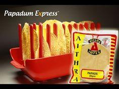 Papadum Express® - Aithra Chilli Papads. Microwave cook 10 Papads in 40 ...