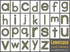 Use your child's love of cars to encourage him or her to learn the letters of the alphabet! This is a great tool for helping kids practice writing letters with the correct stroke order. Kindergarten Reading Activities, Alphabet Activities, Preschool Learning, Preschool Activities, Alphabet Writing, Alphabet Cards, Writing Letters, Handwriting Activities, Teaching The Alphabet