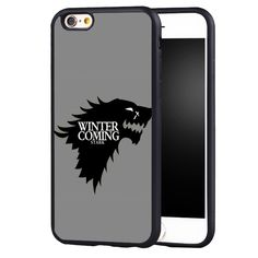 Game Throne Winter is coming Case Cover for Samsung Galaxy edge plus note 2 3 4 5 - Direwolf Shop Direwolf Shop Dire Wolf, S8 Plus, Samsung Galaxy S4, S7 Edge, Winter Is Coming, Game Of Thrones, Just For You, Phone Cases, Note