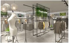 Womens Fashion Garment Clothing Store Layout Plan Design - B Boutique Design, Design Shop, Modegeschäft Design, Boutique Deco, Plan Design, Fashion Shop Interior, Clothing Boutique Interior, Fashion Store Design, Clothing Store Design