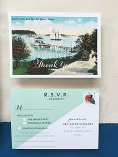 Maine Moose Gold Foil Wedding Invitations by Charm and Fig / Oh So Beautiful Paper