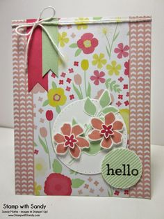 Stamp With Sandy: Hello Darling & Summer Silhouettes for The Paper Players