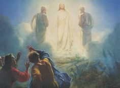 "5 While he was still speaking, a bright cloud covered them, and a voice from the cloud said, ""This is my Son, whom I love; with him I am well pleased. Listen to him!"" Matthew 17."